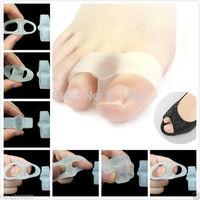 Silicone Gel foot fingers Pain Relief Toe Separator thumb valgus protector Bunion adjuster Hallux Valgus Guard feet care 2pr