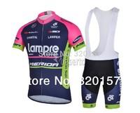 2014 Men's LAMPRE Team  MERIDA ropa ciclismo Cycling jersey BIB Shorts  bicicleta mountain bike maillot Clothing sets bicycle