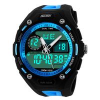 Men Sports Watches LED Digital Watch 2 Time Zone Quartz Chronograph Dive Swim 50M Waterproof Multifunction led Men Wristwatches