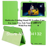 200PCS Litchi W/Pen Slot Protectors Skin For Asus VivoTab Note 8 M80TA Folio Cover,Stand PU Case For Asus M80TA
