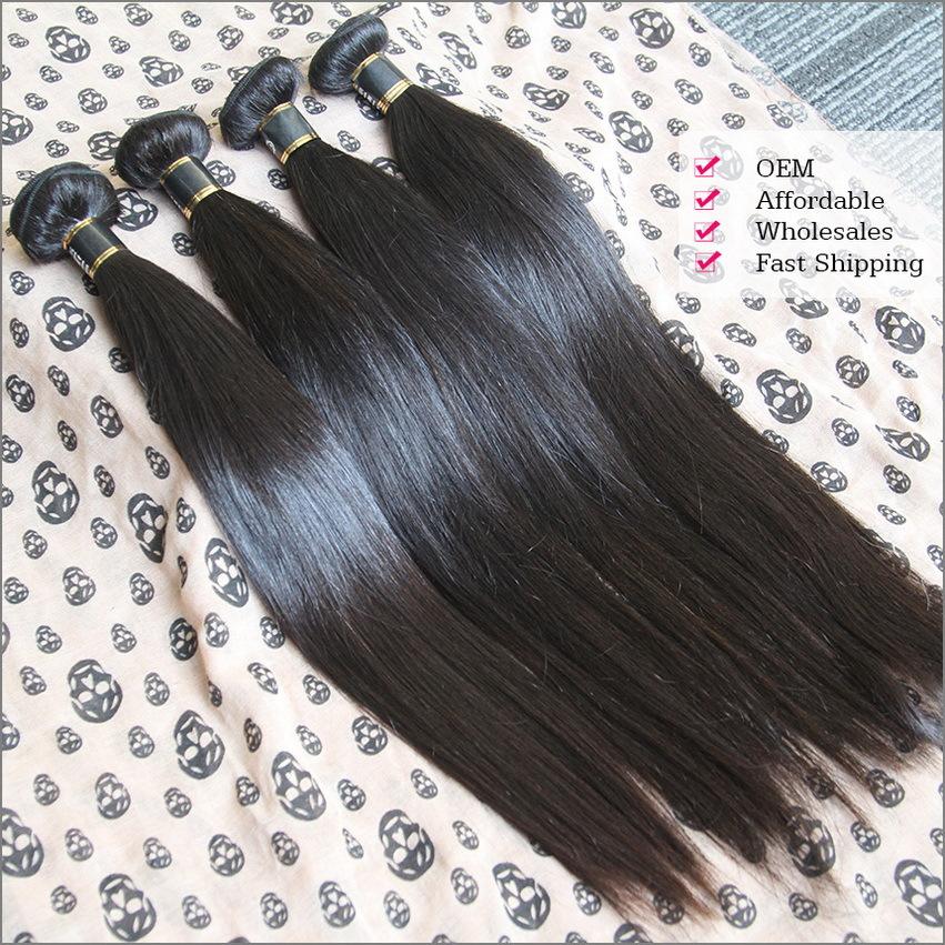 1Pcs Brazilian Virgin Hair Weft Straight Rosa Hair Products No Shedding No Tangle No Lice Guaranteed(China (Mainland))