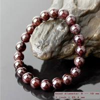 Fashion boutique a-class 5-10 mm natural garnet bracelet hot-selling gem crystal bracelets unisex bangles free shipping