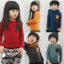2014New Arrival children t shirts, long sleeve boys girls T-shirts,summer female kids girl t-shirt kids tops tees(China (Mainland))