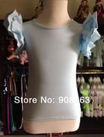 Girls Kids T Shirt 2 Ruffles Sleeves Shirts Tops  Sold white New Style girls Shirts Tank tops , Drop shipping