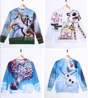 High quality 3D Print Animal Sweater Cartoon Film Print Hoodies 3D Sweatshirts Men Sweater H001