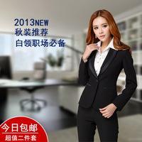 2014 new spring and sutumn Women's formal work wear women's professional blazer set pants suits womens business suits @