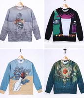 High quality 3D Print Animal Sweater Skeleton Skull Head Hoodies 3D Sweatshirts Men Sweater H003
