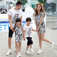 Family looke, 2014 Summer family sets clothes for girls family set clothing for mother father and daughter son dress clothes