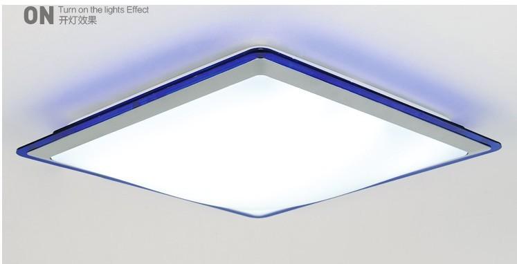 24w Arcrylic led ceiling light lamp living room light modern restaurant /Bathroom lamp reflex colorful border led lighting 35*35(China (Mainland))