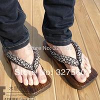 Kimono eleomargaric men's clogs ark wooden slippers flip slippers plank shoes plus size