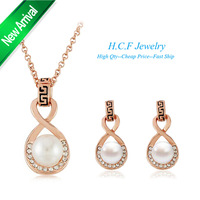 2014 New Hot 18K GP Special Off Gift The New Fashion Nappa Pearl of eight White Gold Necklace Great Wall Free shipping