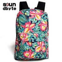 new 2014 spring women printing floral school canvas travel outdoor fun & sports bag backpack