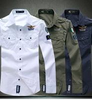 new men's Aeronautica military Air Force One shirt,men brand bomber long sleeve shirts,men's casual Embroidery shirt