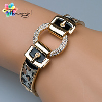 2014 New Fashion Belt Design Gold Bangle Bracelet For Women [3263-A34]