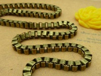 Diy accessories ancient bronze chain square chalybeate e1017 3 3mm 5 meters 11