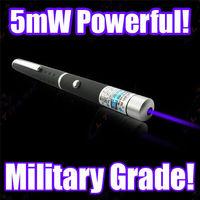 Purple Blue Laser Pen  5mW 405nm Beam Laser Pointer Pen high power Blue laser pointer Teaching Strong
