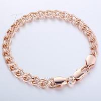 6mm 18K Rose Gold Filled Bracelet Snail Link Chain Mens Womens Chain Bracelet 7-11inch Wholesale Price LGB210
