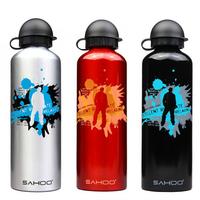 SAHOO Bike Bicycle Stainless steel 750ML Bottle Silver Black Red  mountain bike bottle free shipping