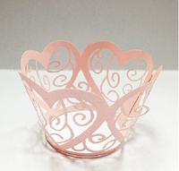 120pcs Art Filigree Laser Die Cut Cupcake Wrappers Wedding Party Decoration Cupcake Cases Cupcake Decor Supplies