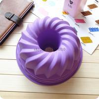 new 2014 DIY cake baking tools silicone pastry molds bread baking DIY circle cake mold wholesale