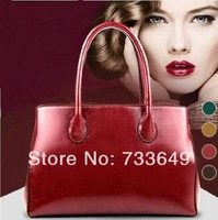 2014 new design fashion Europe style free shipping PU leather women handbag
