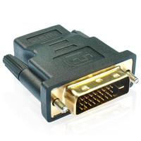 High Quality (24+1) DVI to HDMI Male to Female HDMI to DVI Female to Male HD Interoperability Exchange Adapter