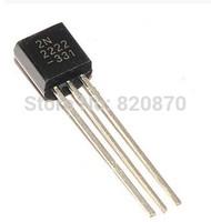 Free shipping 1000PCS NPN Transistor TO-92 2N2222A 2N2222