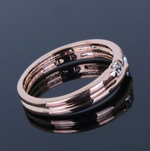 New Arrivals Super Sell Rose Gold Cubic Zirconia Ring Women Finger Rings Lead Free Nickel Free