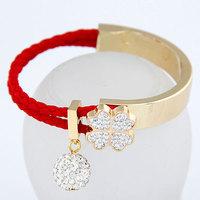 2014 Sweet Clover Simple Bead Bracelet Crystal Joker Bangle For Woman Fashion Jewelry Wholesale