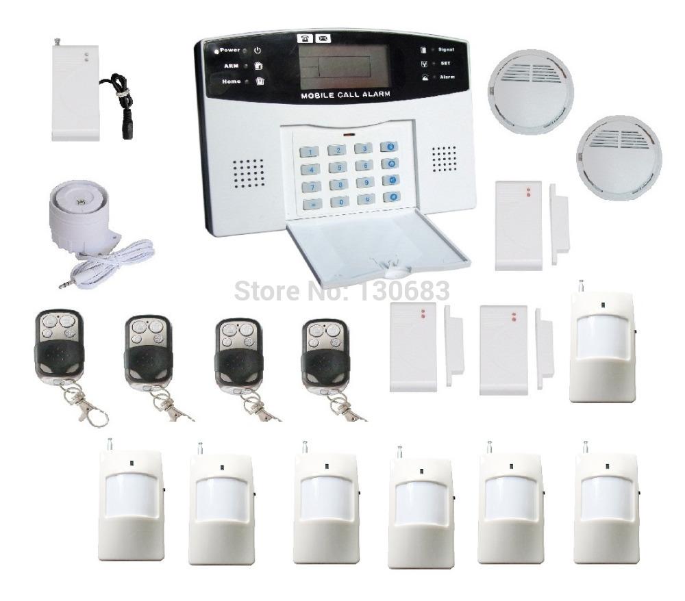 GSM SMS Home Burglar Alarm System Detector Sensor Remote Control ...