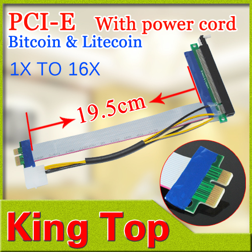Riser PCI-E PCI Express 1X to 16X Adapter Converter Riser Card Extender Flexible Extension Cable Molex 4 Pin Power Connector(China (Mainland))