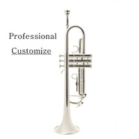 VECKY B-S911 Trumpet Bb Silver plated\brass  design from BACH Professional Performance Could Customize