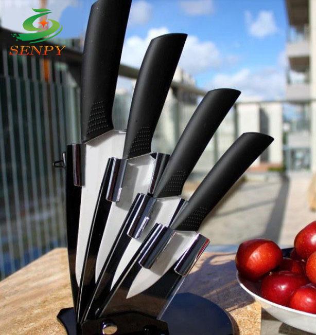 New Ceramic knife, 6pcs Gift Set 3 inch+4 inch+5 inch+6 inch+peeler +Knife holder Ceramic Knife Sets Kitchen Knife!(China (Mainland))