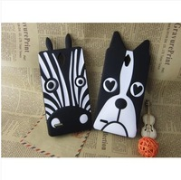 Cute cartoon mobile phone case for Huawei G700,silicon phone cover,3D creactive zebra/dog,free shipping