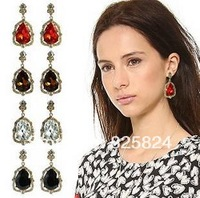 2014 Free shipping baroque vintage czech crystal statement  Earrings for Party Wedding Bridal