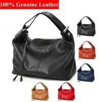 2014 Bags Genuine Leather Handbags Fashion High Quality Women Shoulder Bag Purses Totes 5 colors BH066+Free Shipping