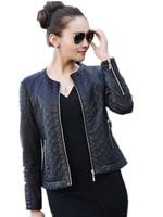 Special offer. New arrival 2015 Spring Women Slim Design Plus Size Short Plaid leather jacket , Sheepskin Outerwear