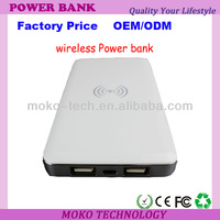 Dual USB Wireless 10000mAh Polymer Battery Charger Backup Rechargeable Power Bank Free Shipping