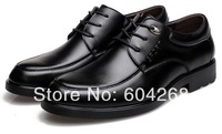 2 Colors Business Men's Genuine Leather Leisure Shoes Male Casual Shoe British Gentleman shoes Size 38-44  8169