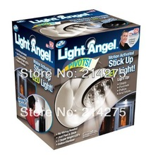 LED Light angel as seen on tv motion activated cordless light base rotates 360 hot sale free shipping(China (Mainland))