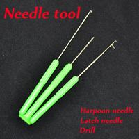 Carp fishing bait needle tool set for making carp fishing rigs terminals fishing bait hook needle kit 2lot/6pcs