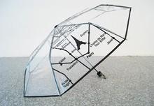 cheap transparent folding umbrella