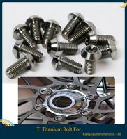 12x M5x10mm Ti TITANIUM BOLT FOR DISC BRAKE ROTORS, MOUNTAIN BIKE & ROAD BIKE