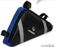 ROSWHEEL Cycling Bike Bicycle Frame Pannier Front Tube Triangle Bag Blue