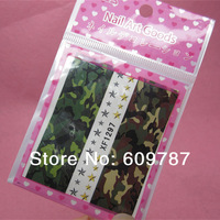 100pcs camouflage pattern water nail sticker water transfer nail decal