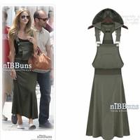 Europe And America Celebrity Style Large Size(M,L,XL,XXL) Women Strap Vest Dress Hooded Dress