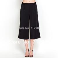 YIGELILA 827-F Summer Fashion Ladies Wide Leg Flare Pants Capris Free Shipping