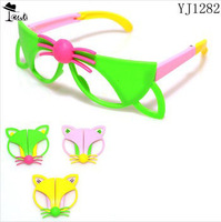 Child birthday gift Free shipping ( 10pairs )new arrival spring colorful patchwork foldable acetate kids sunglasses YJ1282