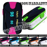New Update wholesale-hot ***finger pulse oximeter spo2 pr oxygen monitor 5 colors  wear-proof  anti-scratch