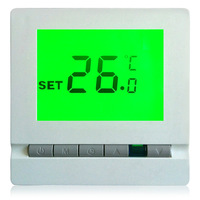 FLOUREON Digital Room Floor Heating Thermostat with LCD Display Temperature Controller Thermostat Floor with Green Backlight